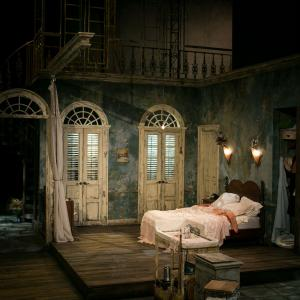 A Streetcard Named Desire production bedroom with green walls