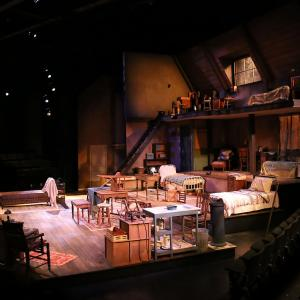 The Diary of Anne Frank production of an attic space with two floors