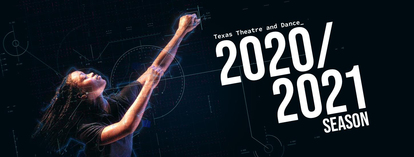 2020/2021 season graphic with female dancer