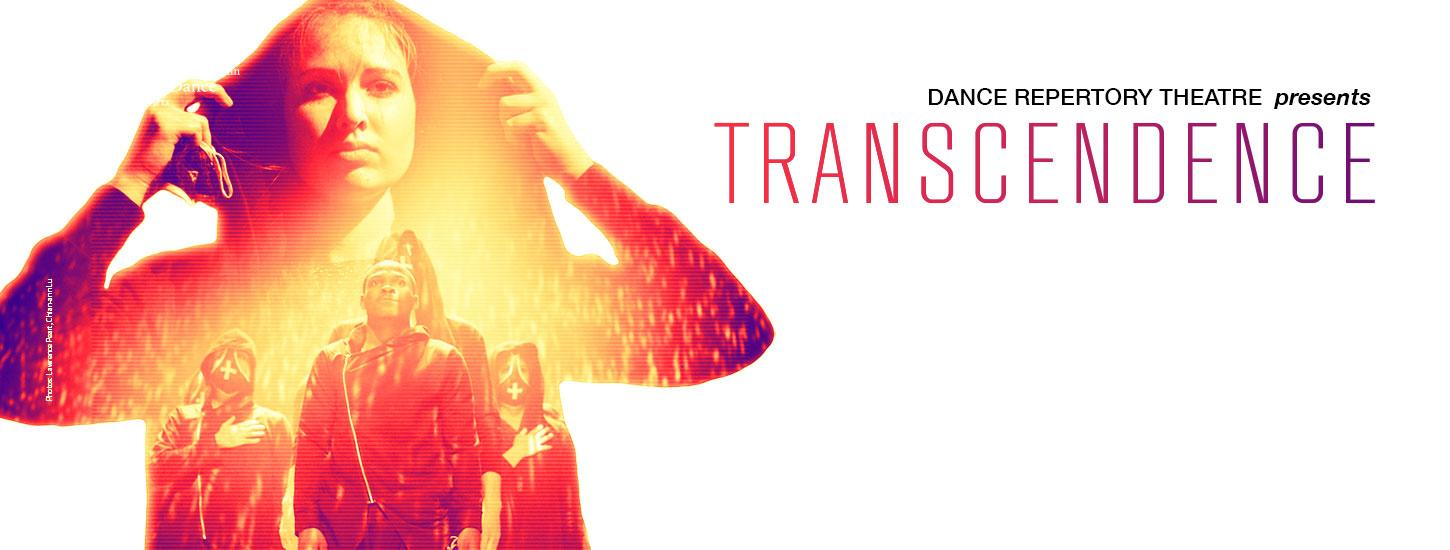 woman with hood standing in front of dancers promo for transcendence