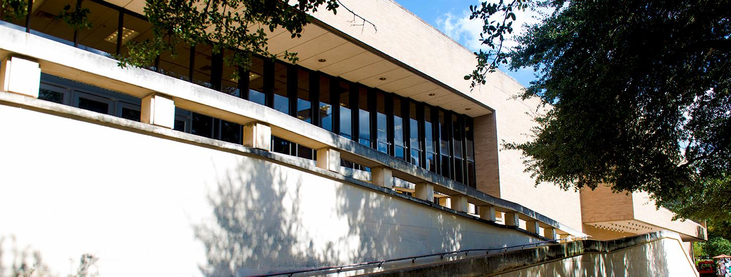 exterior of the F. Loren Winship Drama Building