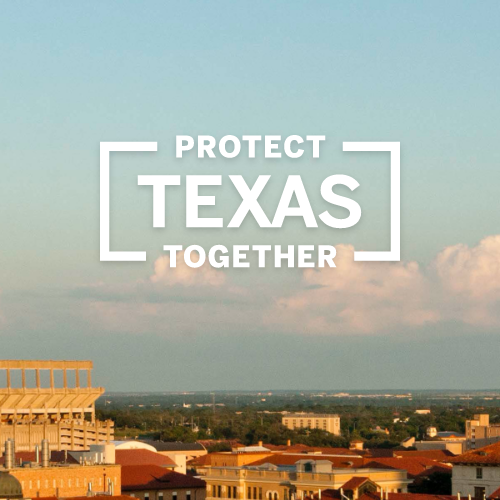 No button protect texas graphic