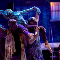 scene from this intoxicating movement-infused theatre work