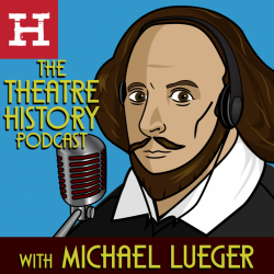 shakespeare cartoon with headphones